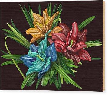 Bouquet#1 Wood Print