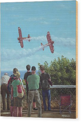 Bournemouth Air Festival Wood Print by Martin Davey