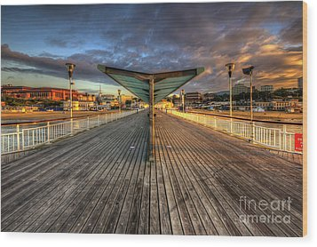 Bournemouth Pier Sunrise 2.0 Wood Print by Yhun Suarez