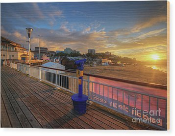 Bournemouth Pier Sunrise Wood Print by Yhun Suarez