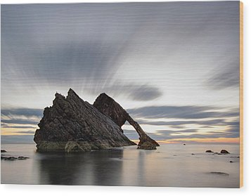 Bow Fiddle Rock At Sunrise Wood Print