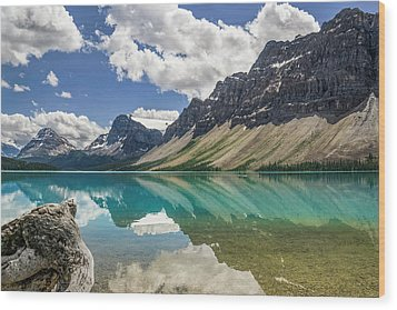 Wood Print featuring the photograph Bow Lake by Christina Lihani