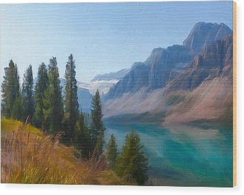 Bow Lake Wood Print