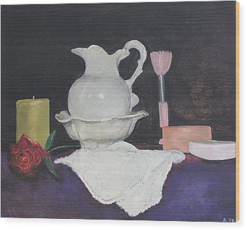 Bowl And Pitcher Wood Print by Aleta Parks