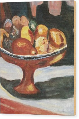 Bowl Of Passion Wood Print by Helena Bebirian