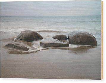 Bowling Ball Beach Wood Print