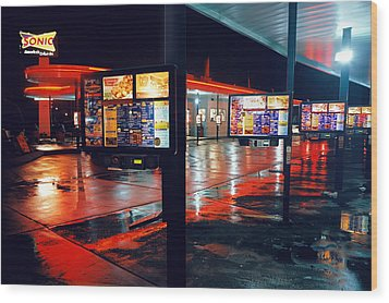 Bowling Green Sonic Drive-in Wood Print