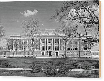 Bowling Green State University Hall Wood Print by University Icons