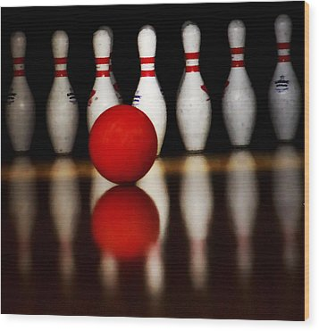Bowling Reflections Wood Print