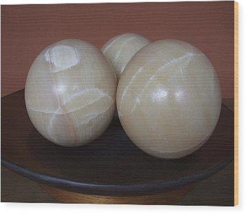 Bowls Wood Print by Dan Andersson