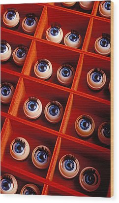 Box Full Of Doll Eyes Wood Print by Garry Gay