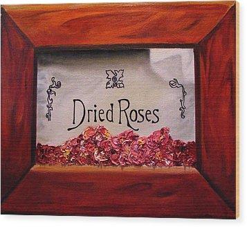 Box Of Roses Wood Print
