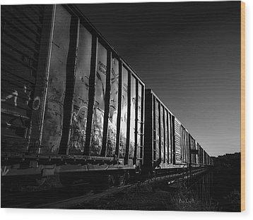 Boxcar Sunrise Wood Print by Bob Orsillo