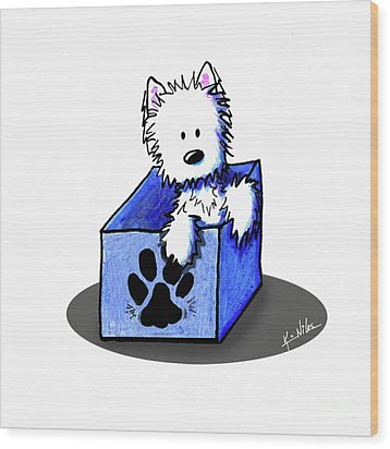 Boxed In Cuteness Wood Print by Kim Niles
