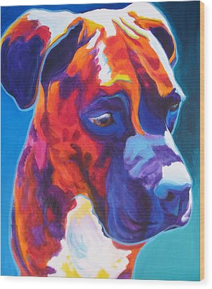 Boxer - Jax Wood Print by Alicia VanNoy Call
