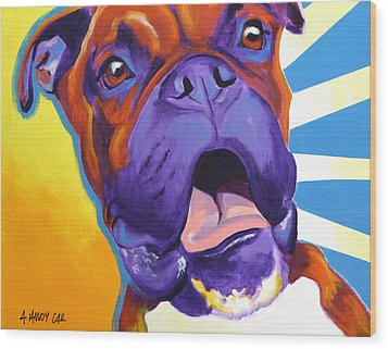 Boxer - Chance Wood Print by Alicia VanNoy Call