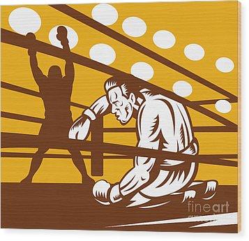 Boxer Down On His Hunches Wood Print by Aloysius Patrimonio