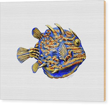 Boxfish II Wood Print