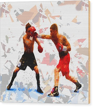 Wood Print featuring the painting Boxing 113 by Movie Poster Prints