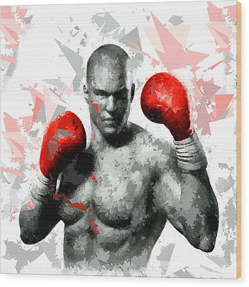 Wood Print featuring the painting Boxing 114 by Movie Poster Prints