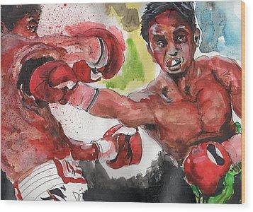 Boxing Fury Wood Print by Matt Burke