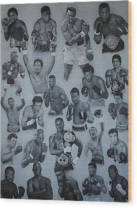 Boxing's Greatest Wood Print by David Dunne