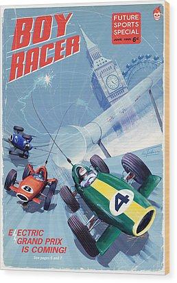 Boy Racer Wood Print by Alex Tomlinson