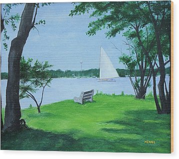 Boy Scout Island Wood Print