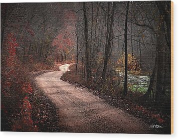 Boz Mill Road Wood Print by Bill Stephens
