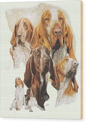 Bracco Italiano W/ghost Wood Print by Barbara Keith
