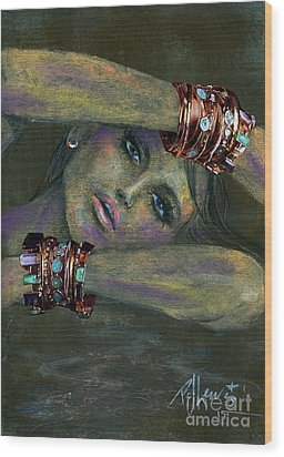 Bracelets  Wood Print by P J Lewis