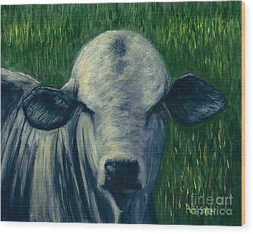 Brahma Bull  Wood Print