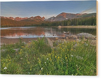 Brainard Lake Wood Print