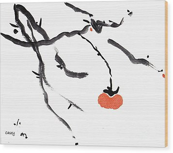 Branches With A Persimmon Wood Print by Casey Shannon