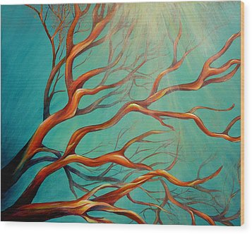 Branching Out Wood Print by Dina Dargo