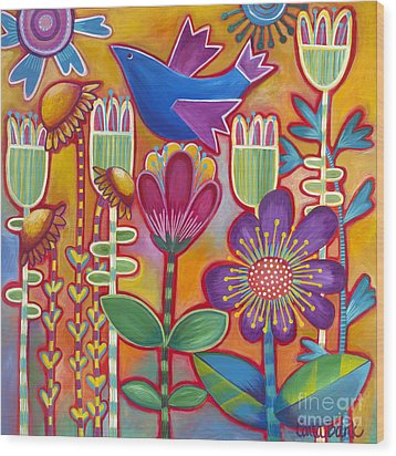 Wood Print featuring the painting Brand New Day by Carla Bank