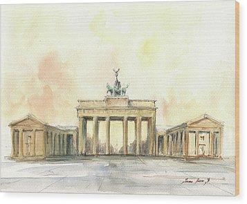 Brandenburger Tor, Berlin Wood Print