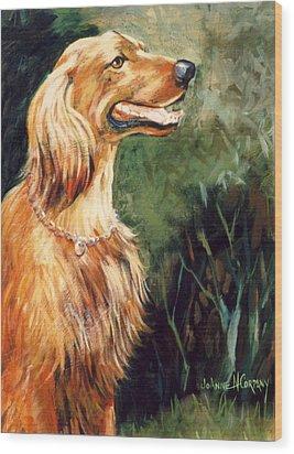 Brandy   Irish Setter Wood Print by JoAnne Corpany
