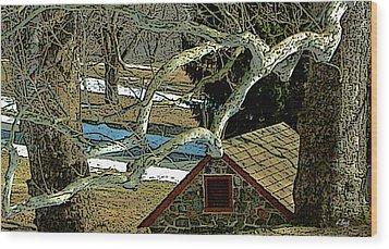 Brandywine Springhouse Wood Print by Gordon Beck