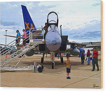 Branson Airport Airshow Wood Print by Julie Grace