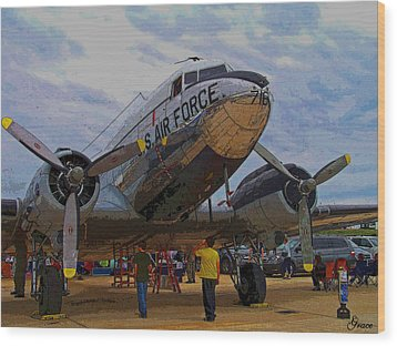 Branson Airshow 2009 Wood Print by Julie Grace