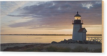 Brant Point Dawn - Nantucket Wood Print by Henry Krauzyk