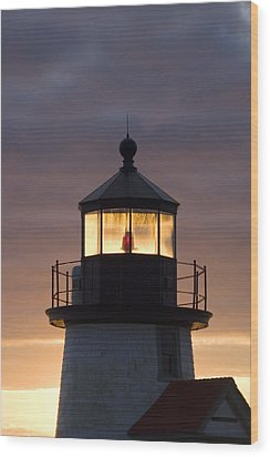 Brant Point Lanthorn - Nantucket Wood Print by Henry Krauzyk
