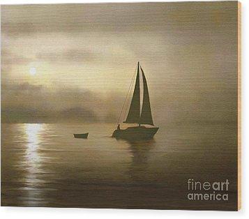 Brass Sail Wood Print by Robert Foster