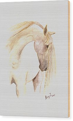 White Horse From The Wild Wood Print by Remy Francis