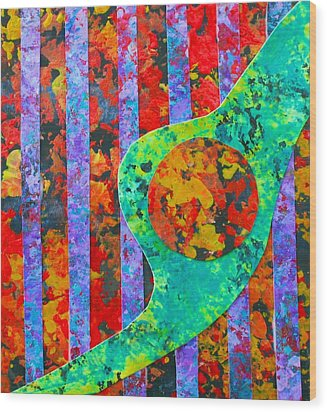 Brave New World Wood Print by Polly Castor