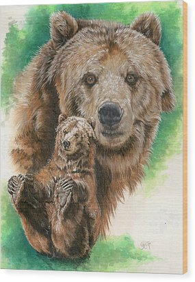 Wood Print featuring the painting Brawny by Barbara Keith