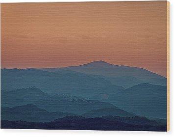 Wood Print featuring the photograph Brda Dusk - Slovenia by Stuart Litoff