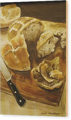 Bread Board Wood Print