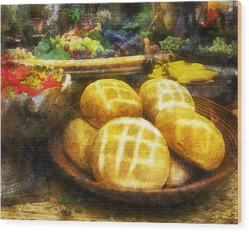 Bread Table Wood Print by Francesa Miller